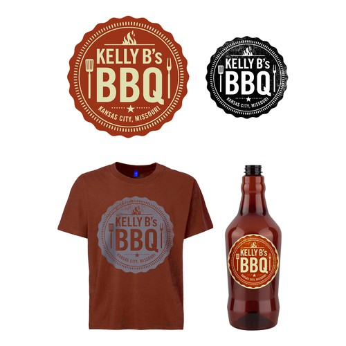 Kelly B's BBQ Logo Design