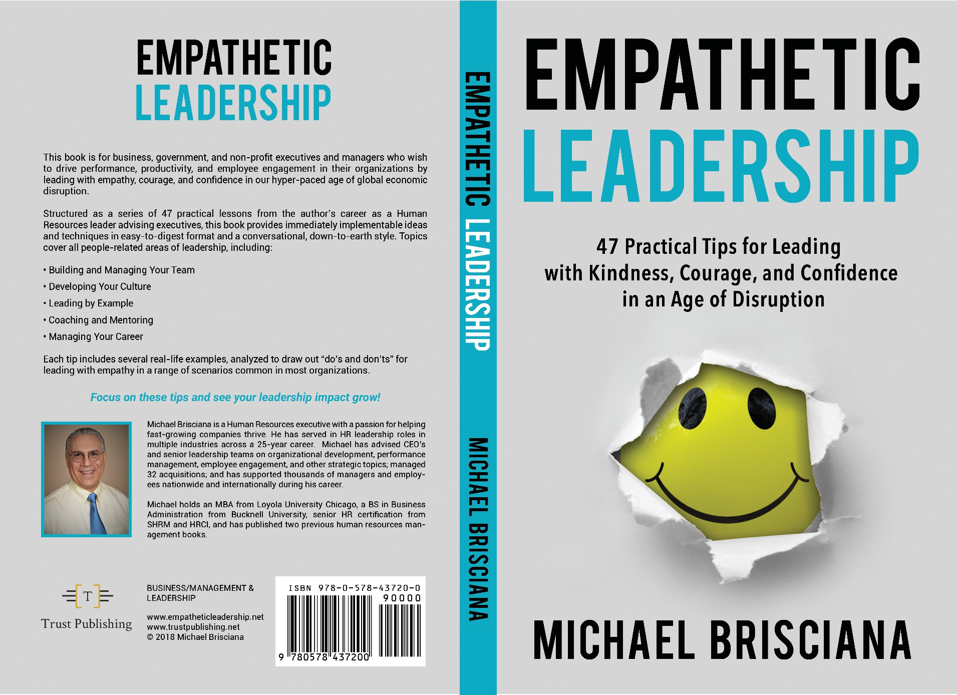 Clean, warm, engaging design needed for business book about leading with empathy and kindness.