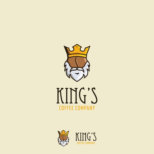 king's coffee logo concept