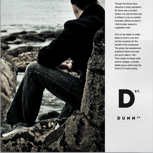 Logo for men's accessories brand Dunn Street