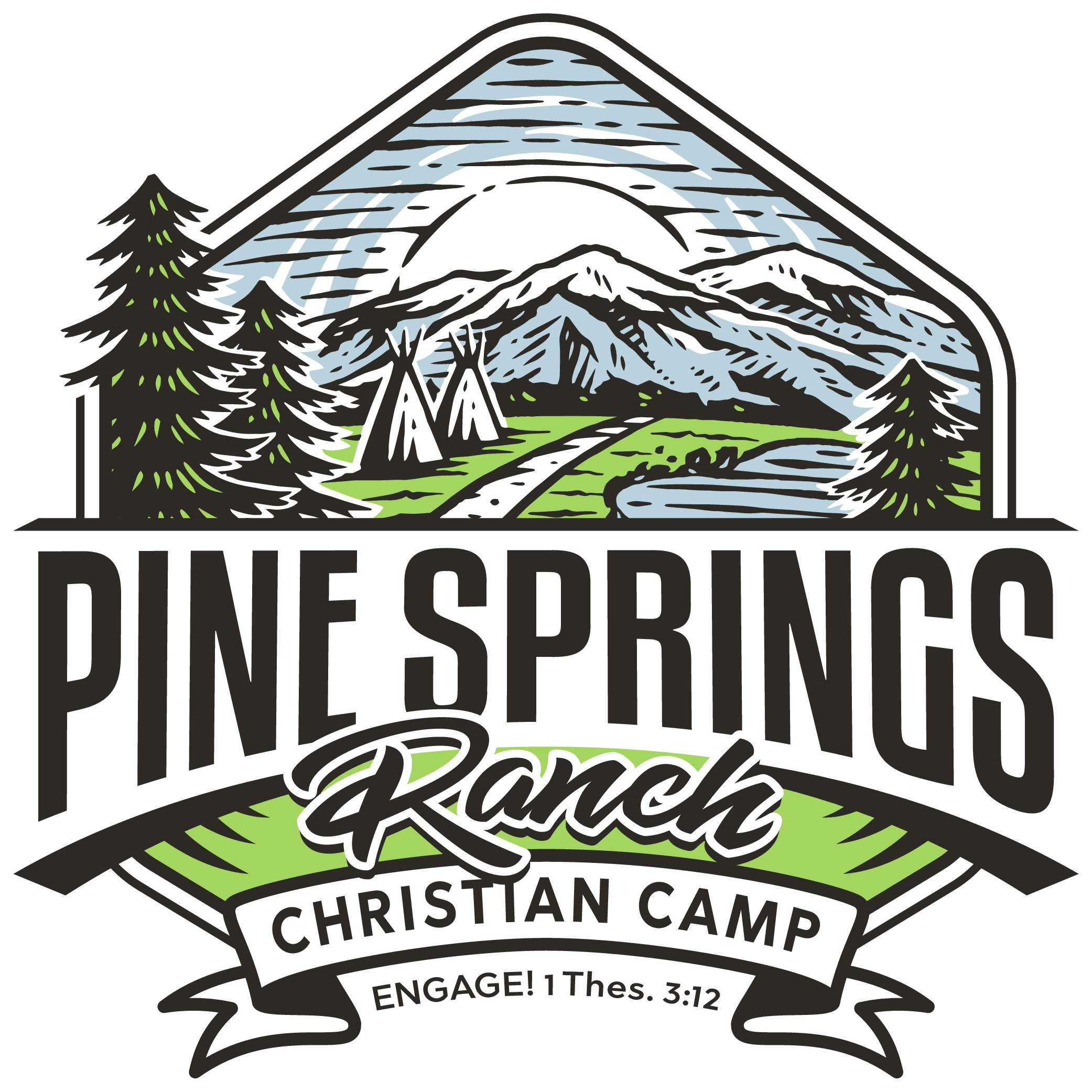 Design a theme logo for a friendly summer camp