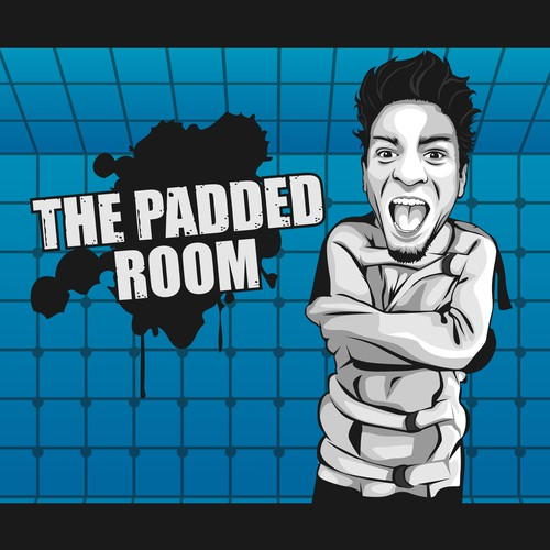 Funny Logo Podcast for The Padded Room