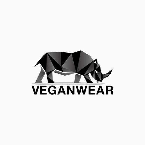 Masculine logo of a rhino