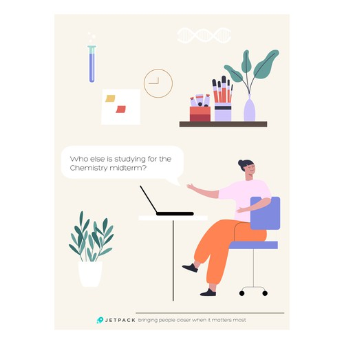 Marketing Postcard for a Mobile App that allows you to chat with everyone in your area