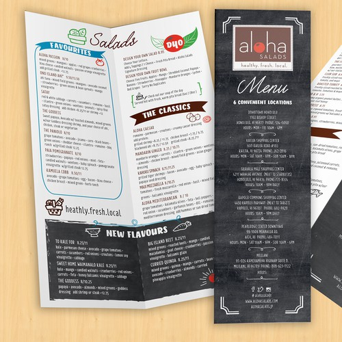 Fun, Fresh Menu for Salad Shop