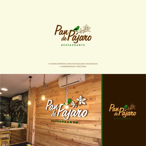 Logo concept for restaurant Pan de Pájaro