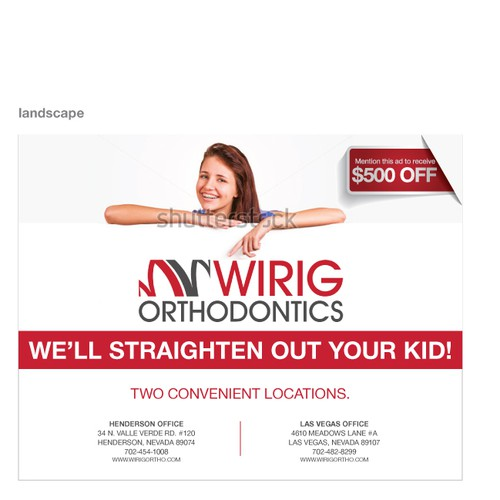 Wirig Orthodontics needs a new postcard or flyer