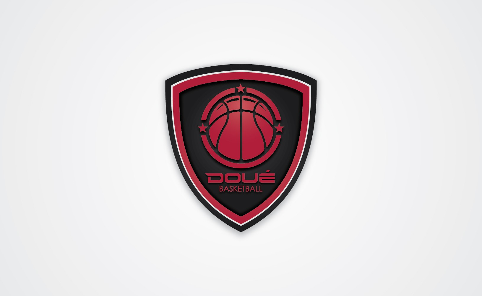 Create a sleek creative logo design for Doué Basketball.