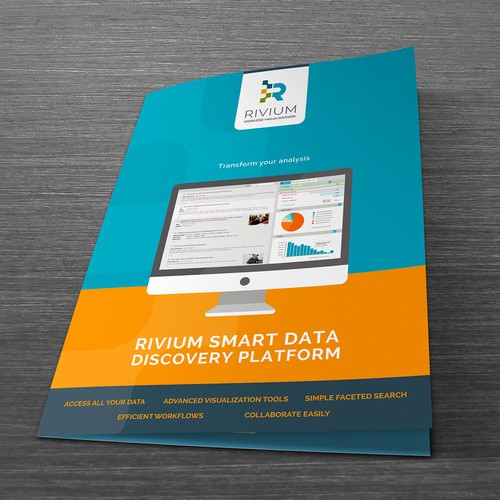 Brochure cover for software company
