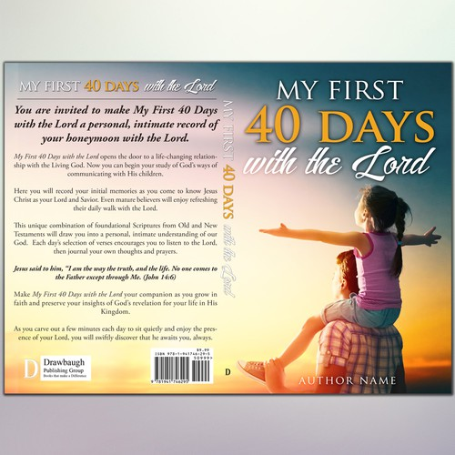 "Cover for ""My first 40 days with the lord """