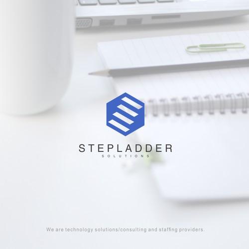 logo concept for stepladder solutions