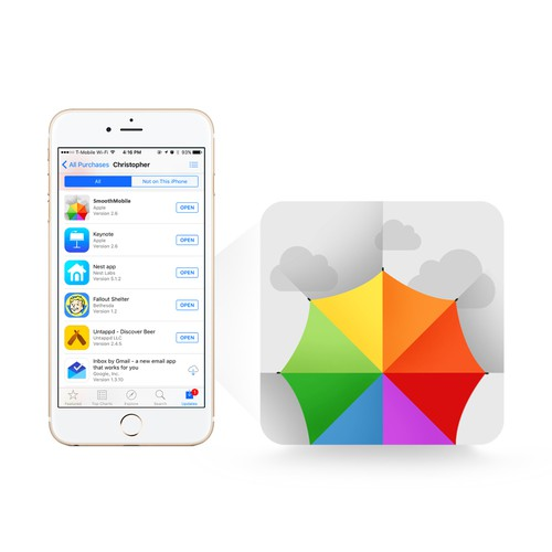 Icon for a color editing photo app