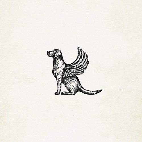 Dog of Venice (winged dog) illustration/icon