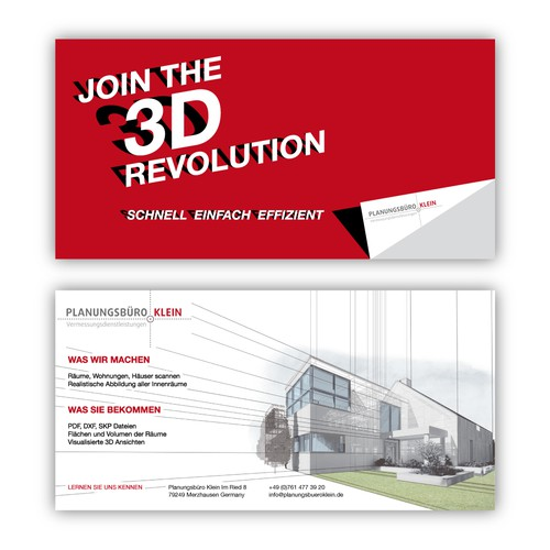 Brochure for a 3d company