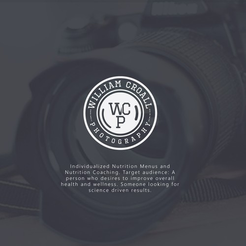 Clean and minimalistic photography logo
