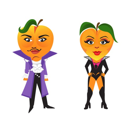 Peach (Fruit) Caricature/Mascots