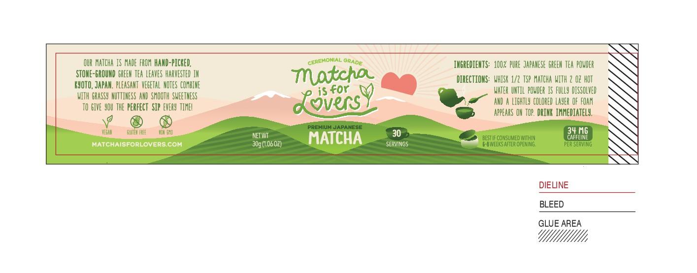 Design a Matcha Green Tea food label for Austin, TX based brand.