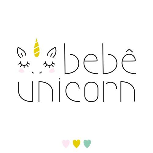 Bebê Unicorn logo design