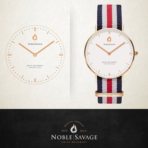 """Classic watch logo for """"Noble Savage"""""""
