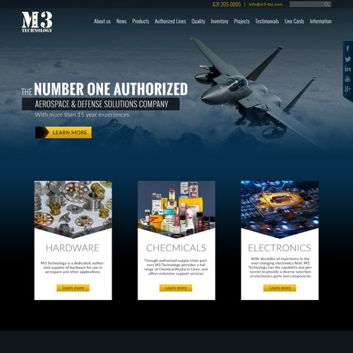 Create a custom Industrial Website for M3 Technology