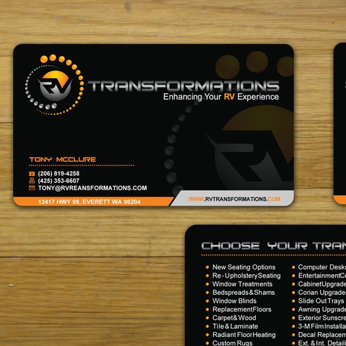 New stationery wanted for RV TRANSFORMATIONS