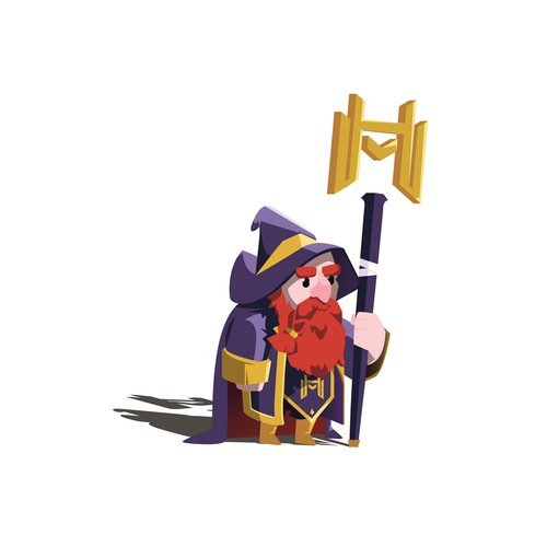 Wizard Mascot for Market Hero