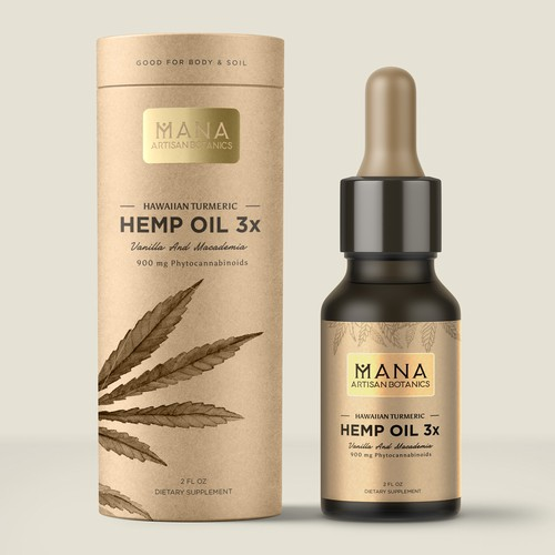 Hawaiian hemp wellness company needs beautiful, clean product labels