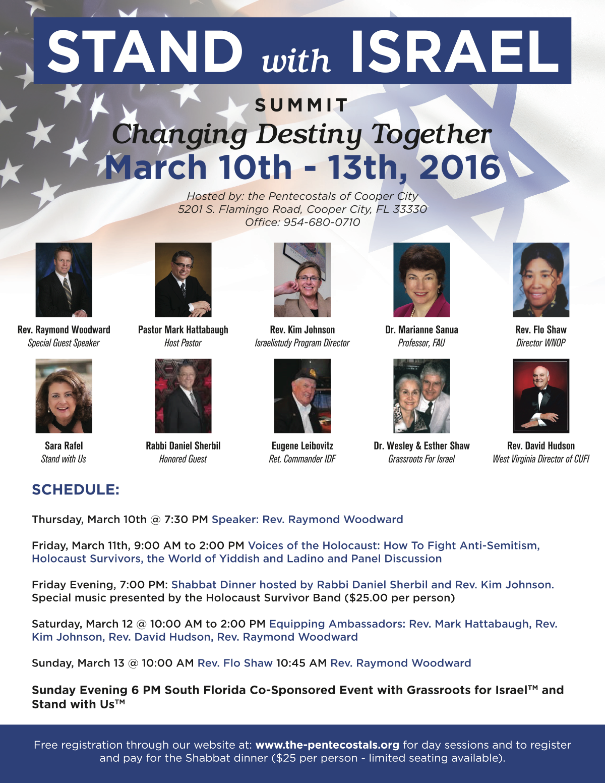 Flyer for our Stand With Israel Summit
