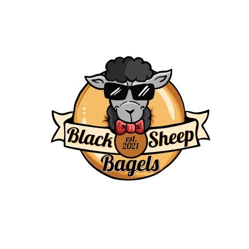 Logo Design - black sheep bagels!