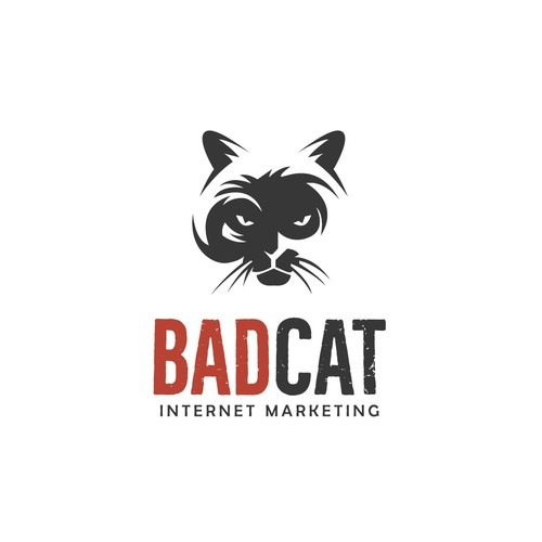 logo concept for badcat