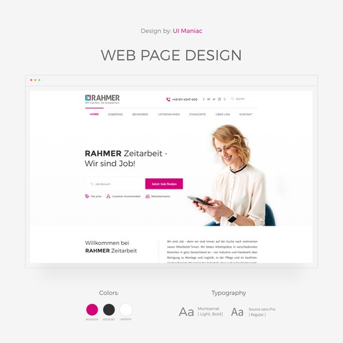 Clean and Text heavy webpage design