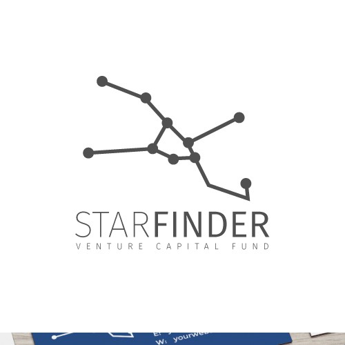 Constellation-inspired logo for a tech startup company