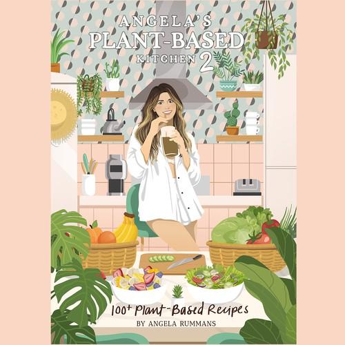Concept Illustration for Vegan cooking book