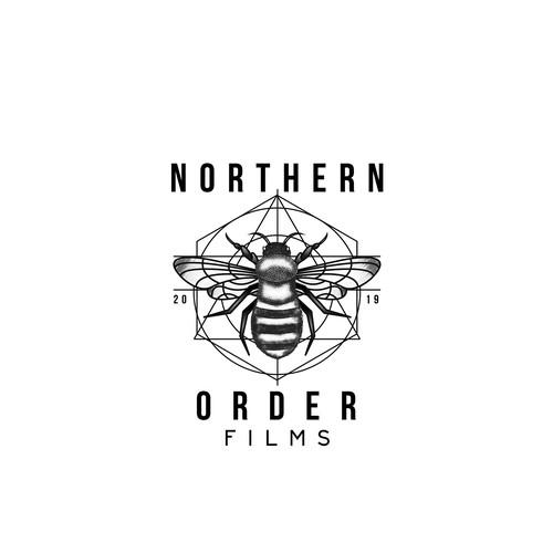 Realistic Worker bee logo design