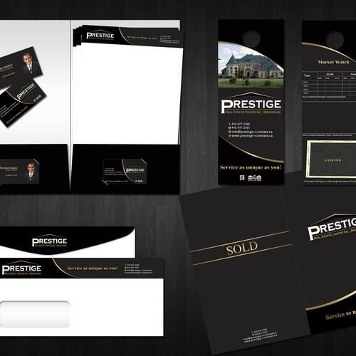 P.r.e.s.t.i.g.e needs a new stationery using your top class design!