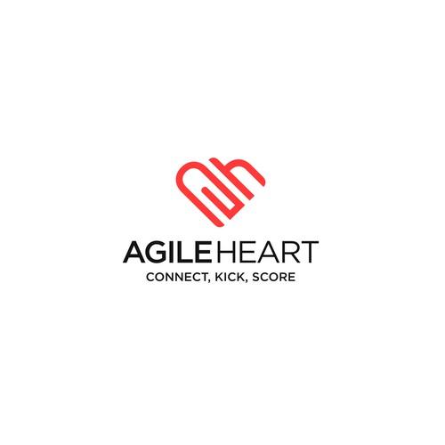 Stylish Logo for Agile Heart