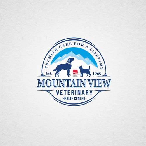 sophisticated and caring logo for a veterinary hospital