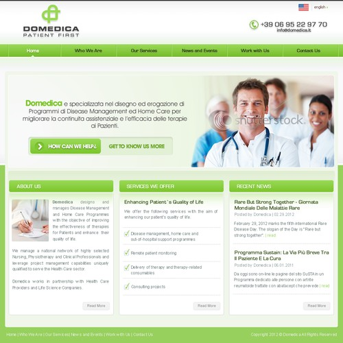 Help Domedica to restyle its website