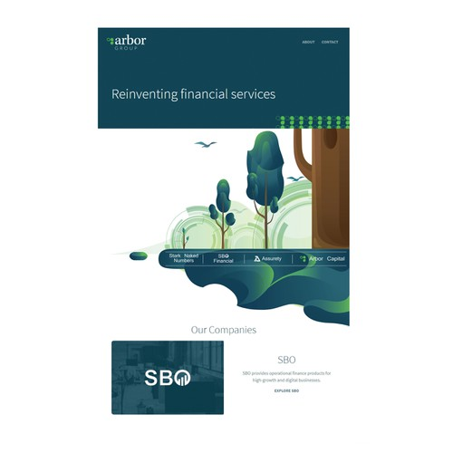 The illustration for financing company