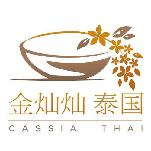 Logo for modern Thai restaurant