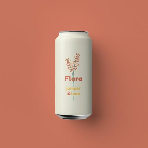 Flora Soda Can Design