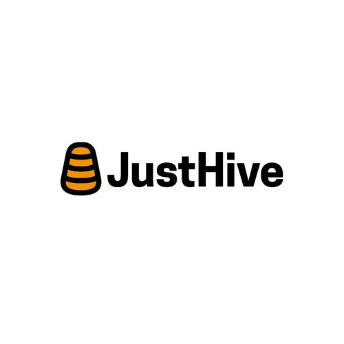 Abstract and minimal hive logo.