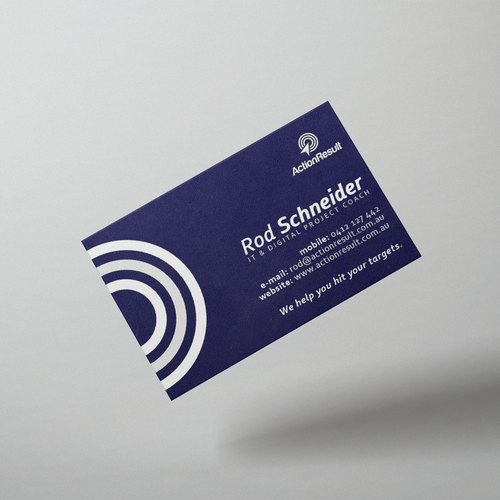 Bussines card design for digital project coach