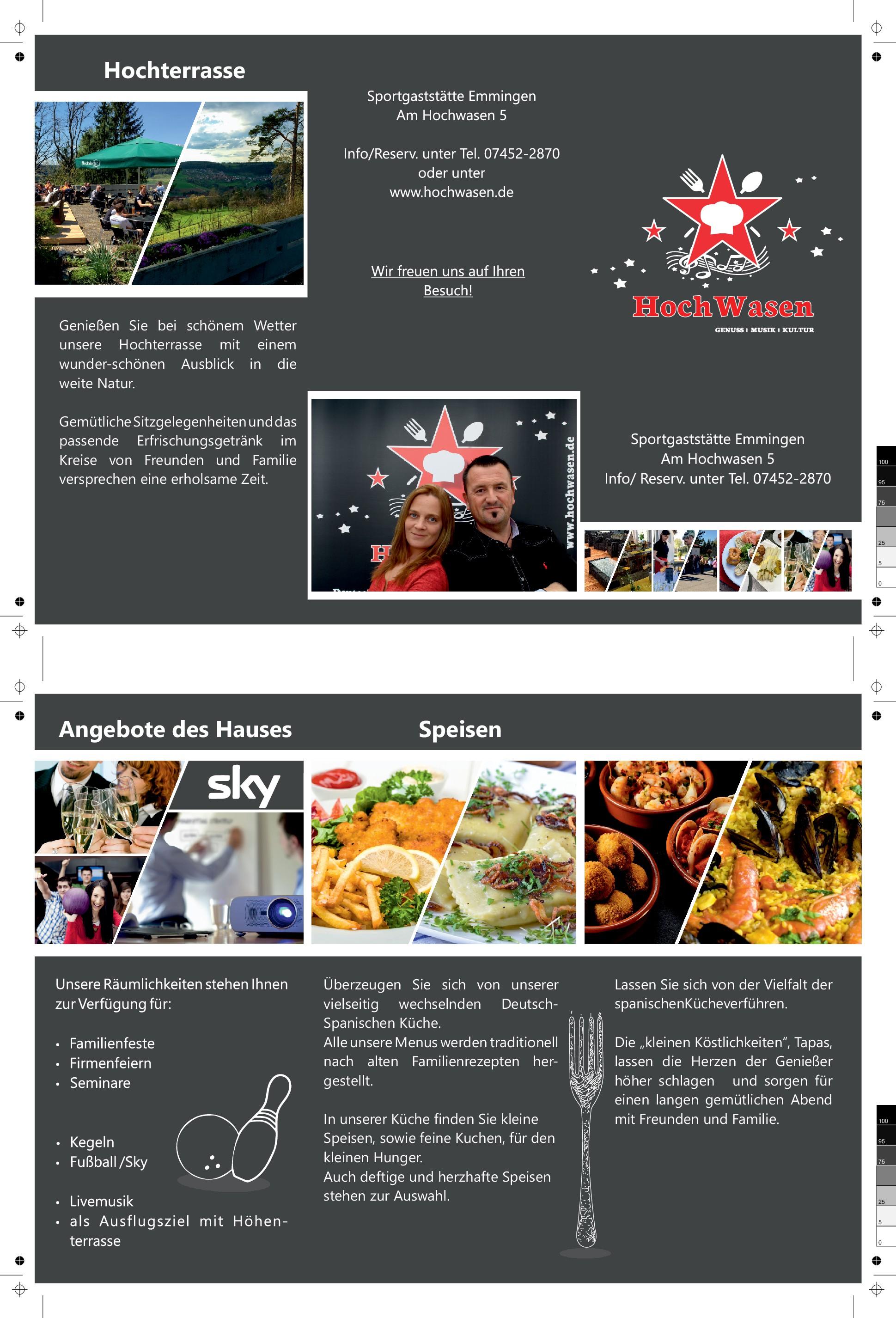 Image-Faltflyer für Eventgastronomie- Image-folding flyer for event catering trade
