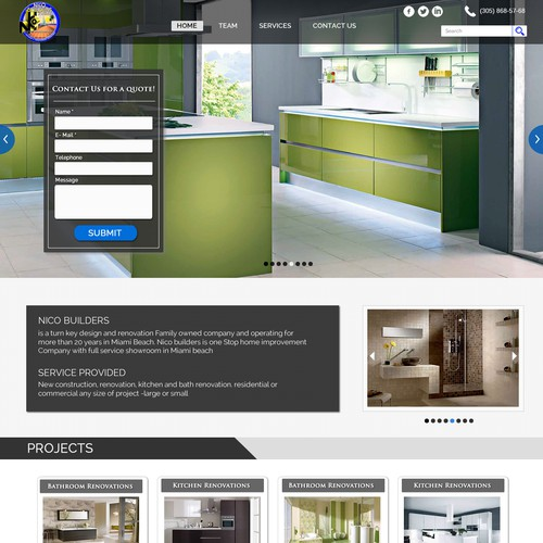 Home Renovation Company - General Contractor Landing Page