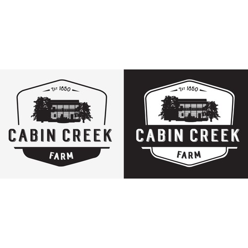 Vintage Logo for Cabin Creek Farm