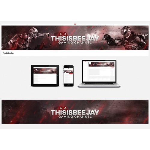 YouTube banner for a new gaming channel