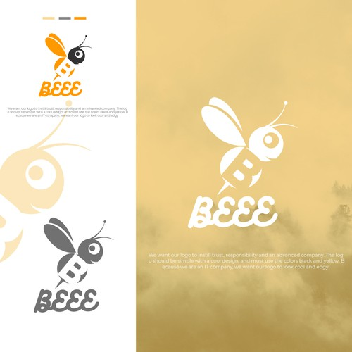 concept:bee+B with some cool icon
