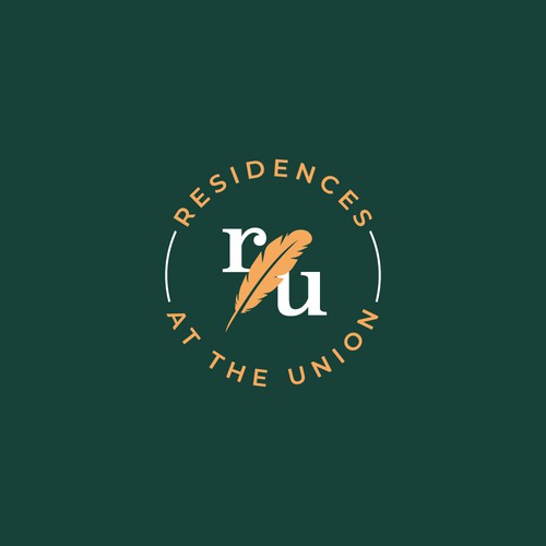 Finalist logo design for Residence at The Union contest.