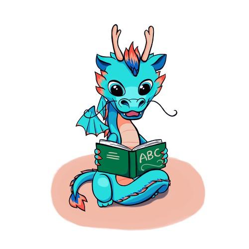 A cute dragon mascot